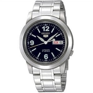 Seiko 5 Automatic Black Dial Silver Stainless Steel Men's Watch SNKE61K1 RRP £169