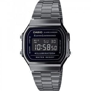 Casio Collection Quartz Digital LCD Dial Gunmetal Stainless Steel Bracelet Watch A168WEGG-1BEF RRP £60