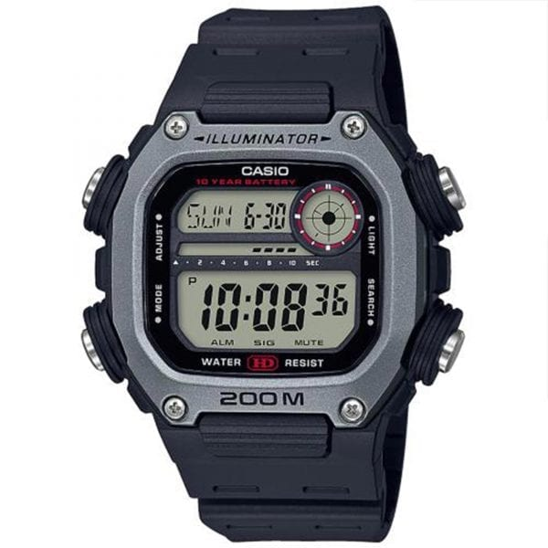Casio Collection Quartz Digital LCD Dial Black Resin Strap Men's Watch DW-291H-1AVEF £39.90