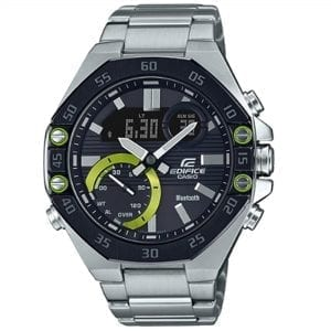 Casio Edifice Quartz Black Dial Silver Stainless Steel Bluetooth Men's Watch ECB-10DB-1AEF RRP £159