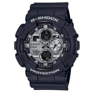Casio G-Shock Quartz Silver Dial Black Resin Strap Men's Watch GA-140GM-1A1ER RRP £119