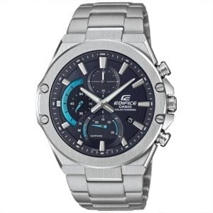 Casio Edifice Solar Black Dial Silver Stainless Steel Bracelet Men's Watch EFS-S560D-1AVUEF RRP £199