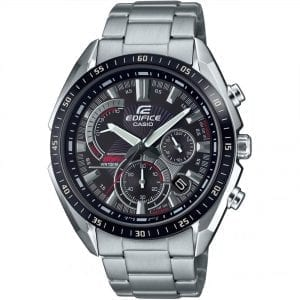 Casio Edifice Quartz Black Dial Silver Stainless Steel Bracelet Men's Watch EFR-570DB-1AVUEF RRP £139