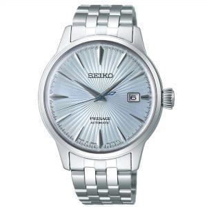 Seiko Presage Cocktail Time Automatic Light Blue Dial Silver Stainless Steel Men's Watch SRPE19J1 RRP £400