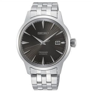 Seiko Presage Cocktail Time 'Espresso Martini' Automatic Black Dial Silver Stainless Steel Men's Watch SRPE17J1 RRP £400