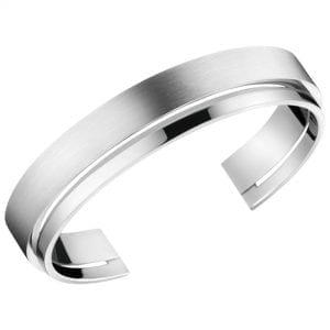 Calvin Klein Unite Silver Stainless Steel Ladies Bangle Jewellery KJ6AMF08010M RRP £79
