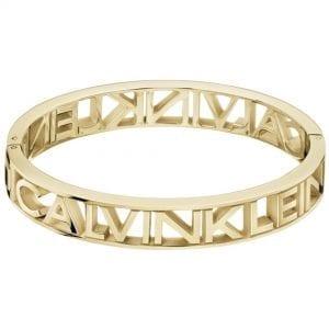 Calvin Klein Mania Gold PVD Stainless Steel Ladies Bracelet Jewellery KJCSJD10010M RRP £119