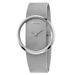 Calvin Klein Glam Quartz Silver Dial Mesh Stainless Steel Bracelet Ladies Watch K9423T27 RRP £299