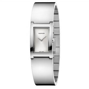 Calvin Klein Polished Quartz Silver Dial Stainless Steel Ladies Watch K9C2N116 RRP £229
