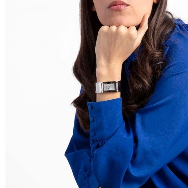 Calvin Klein Polished Quartz Silver Dial Stainless Steel Ladies Watch K9C2N116 RRP £229