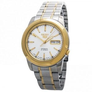 Seiko 5 Automatic White Dial Silver Stainless Steel Men's Watch SNKE54K1 RRP £179