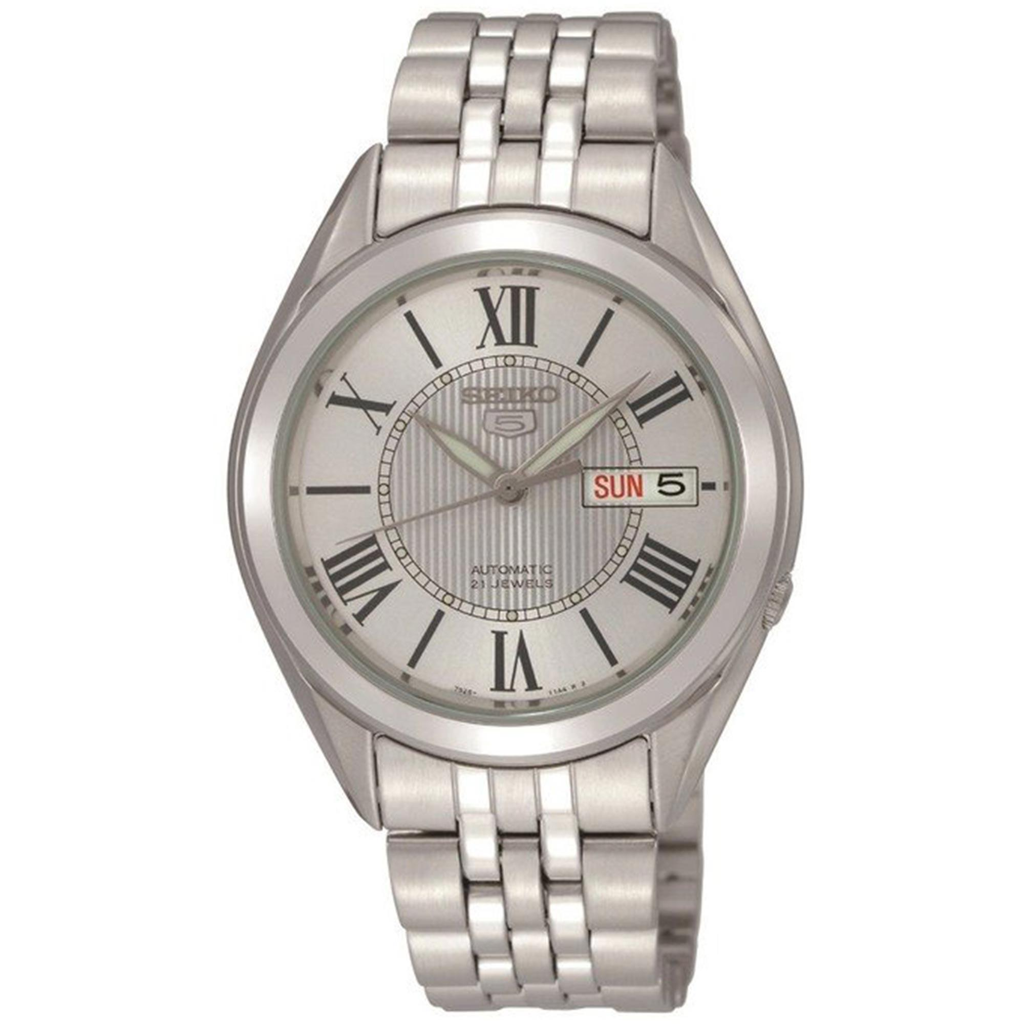 Seiko 5 Automatic White Dial Silver Stainless Steel Men's Watch SNKL29K1 RRP £149