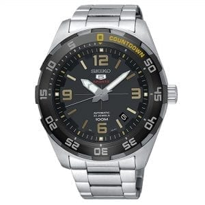Seiko 5 Sports Automatic Black Dial Silver Stainless Steel Men's Watch SRPB83K1 RRP £260