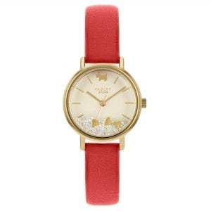 Radley Hello Love Quartz White Dial Red Leather Strap Ladies Watch RY2988 RRP £79.95