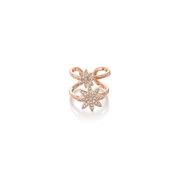 Vixi Nova Rose Gold Double Star Adjustable Ring Ladies Jewellery NOVA-2R.R RRP £85