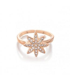 Vixi Nova Rose Gold Large Star Adjustable Ring Ladies Jewellery NOVA-RL.R RRP £75