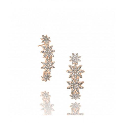 Vixi Nova Rose Gold Statement Star Hoop Earrings Ladies Jewellery NOVA-SH.R RRP £145