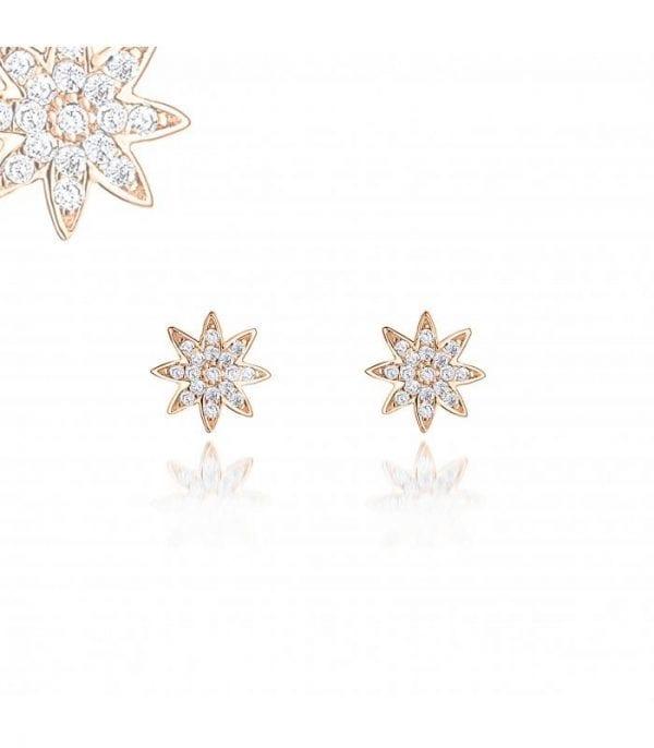 Viki Nova Large Rose Gold Stud Earrings Ladies Jewellery NOVA-ST.R RRP £50