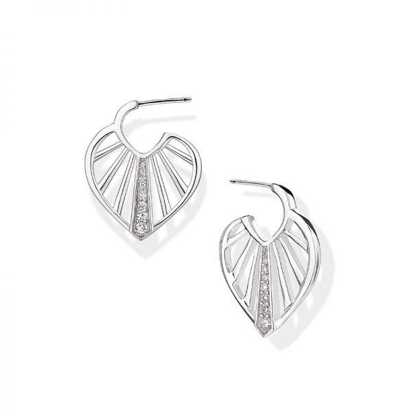 Vixi Jewellery SunBeam Silver Hoop Earrings Ladies Jewellery SUN-HE.W RRP £85