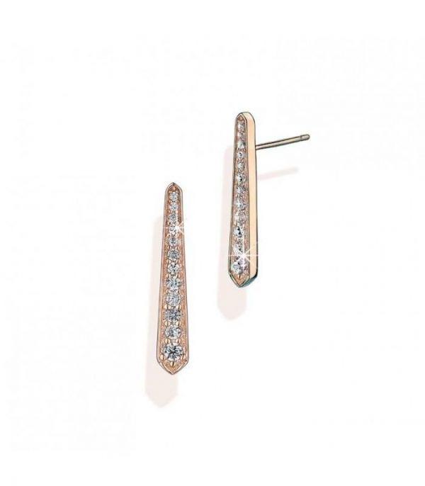 Vixi Jewellery SunBeam Rose Gold Stud Bar Earrings Ladies Jewellery SUN-ST.R RRP £55