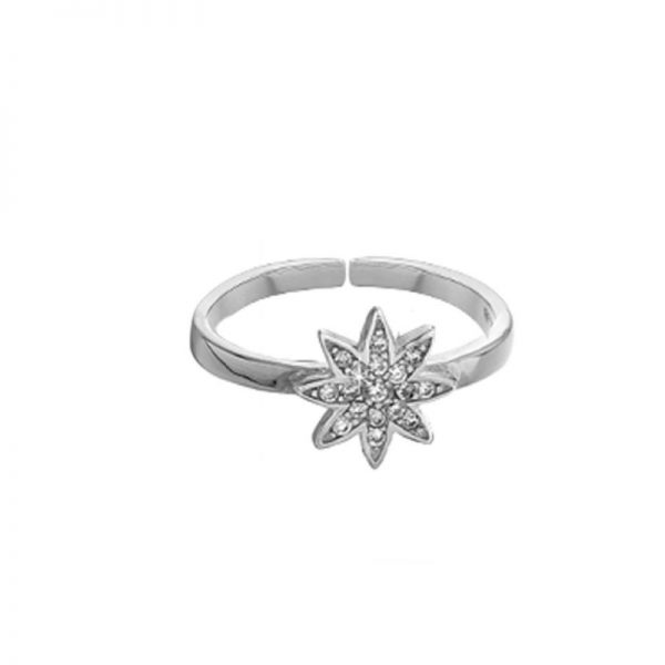 Vixi Jewellery Nova Silver Large Adjustable Ring Ladies Jewellery NOVA-RL.W RRP £65