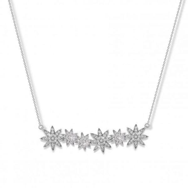 Vixi Nova Silver Star-Bar Pendant Necklace Ladies Jewellery NOVA-SB.W RRP £125
