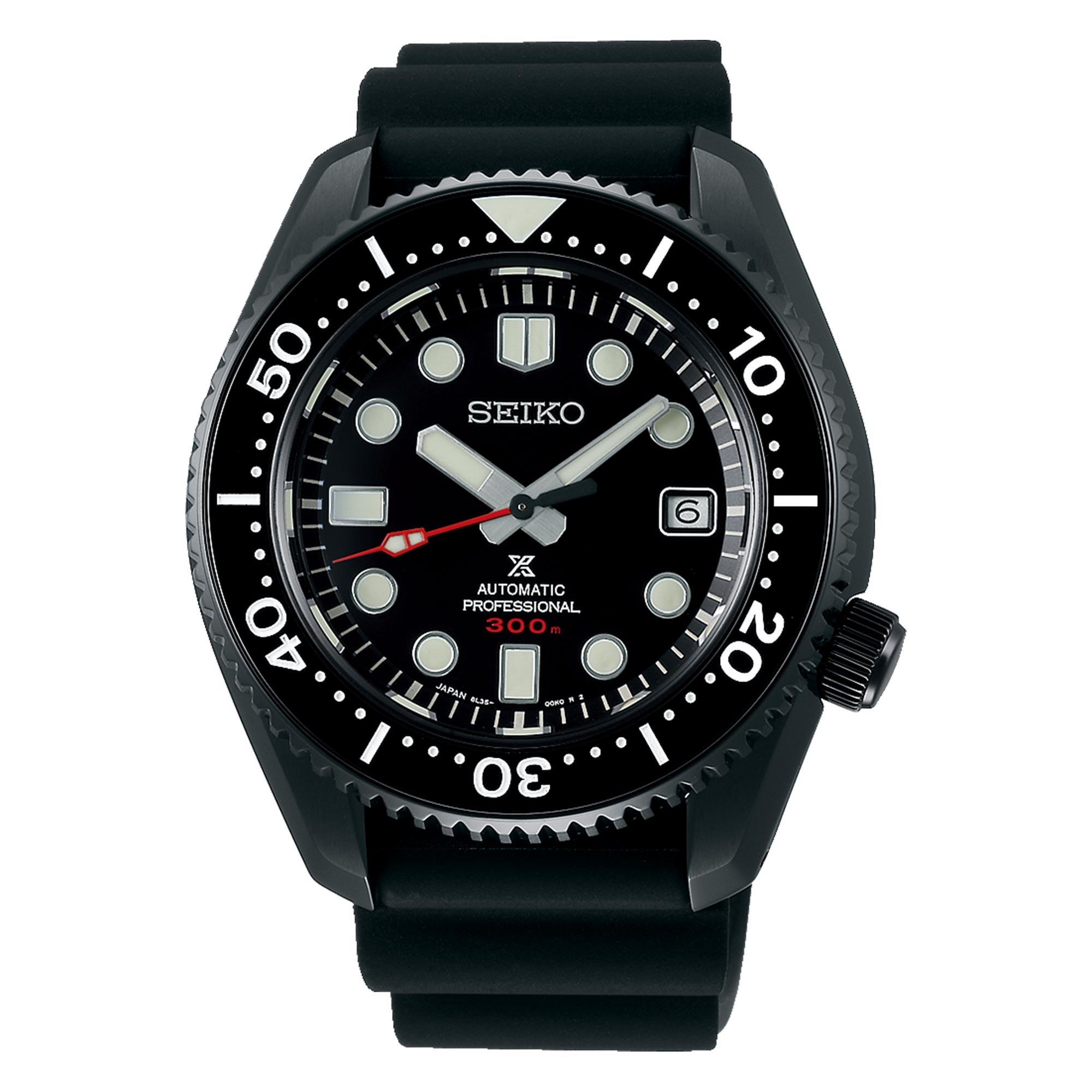 Seiko Limited Edition Diver's Prospex Black Series 'Turtle' Automatic Black Dial Silicone Strap Men's Watch SLA035J1 RRP £2,700