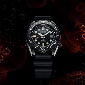 Seiko Limited Edition Diver's Prospex Black Series 'Turtle' Automatic Black Dial Silicone Strap Men's Watch SLA035J1 RRP £2,700