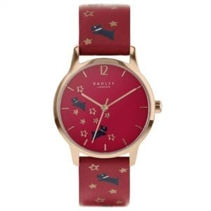 Radley Star Gazing Quartz Red Dial Leather Strap Ladies Watch RY2938A RRP £89.95