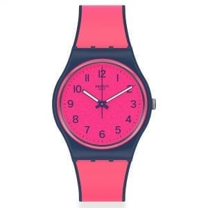 Swatch Pink Gum Quartz Pink Dial Silicone Strap Ladies Watch GN264 RRP £58