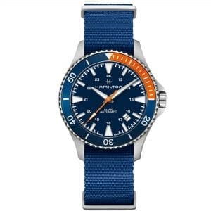Hamilton Khaki Navy Scuba Automatic Blue Dial NATO Strap Men's Watch H82365941 RRP £645