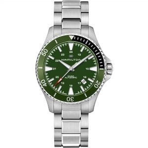 Hamilton Khaki Navy Scuba Automatic Green Dial Silver Stainless Steel Bracelet Men's Watch H82375161 RRP £695