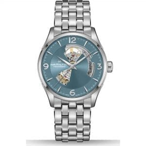 Hamilton Jazzmaster Automatic Blue Open Heart Dial Silver Stainless Steel Men's Watch H32705142 RRP £965