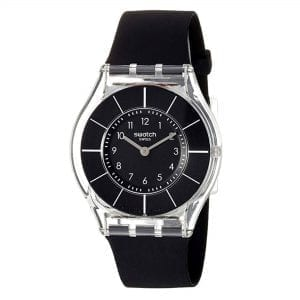 Swatch Black Classiness 34mm Case Men's Watch SFK361