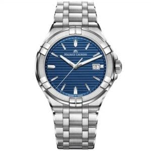 Maurice LaCroix Aikon Blue Dial Silver Stainless Steel Men's Watch AI1008-SS002-431-1