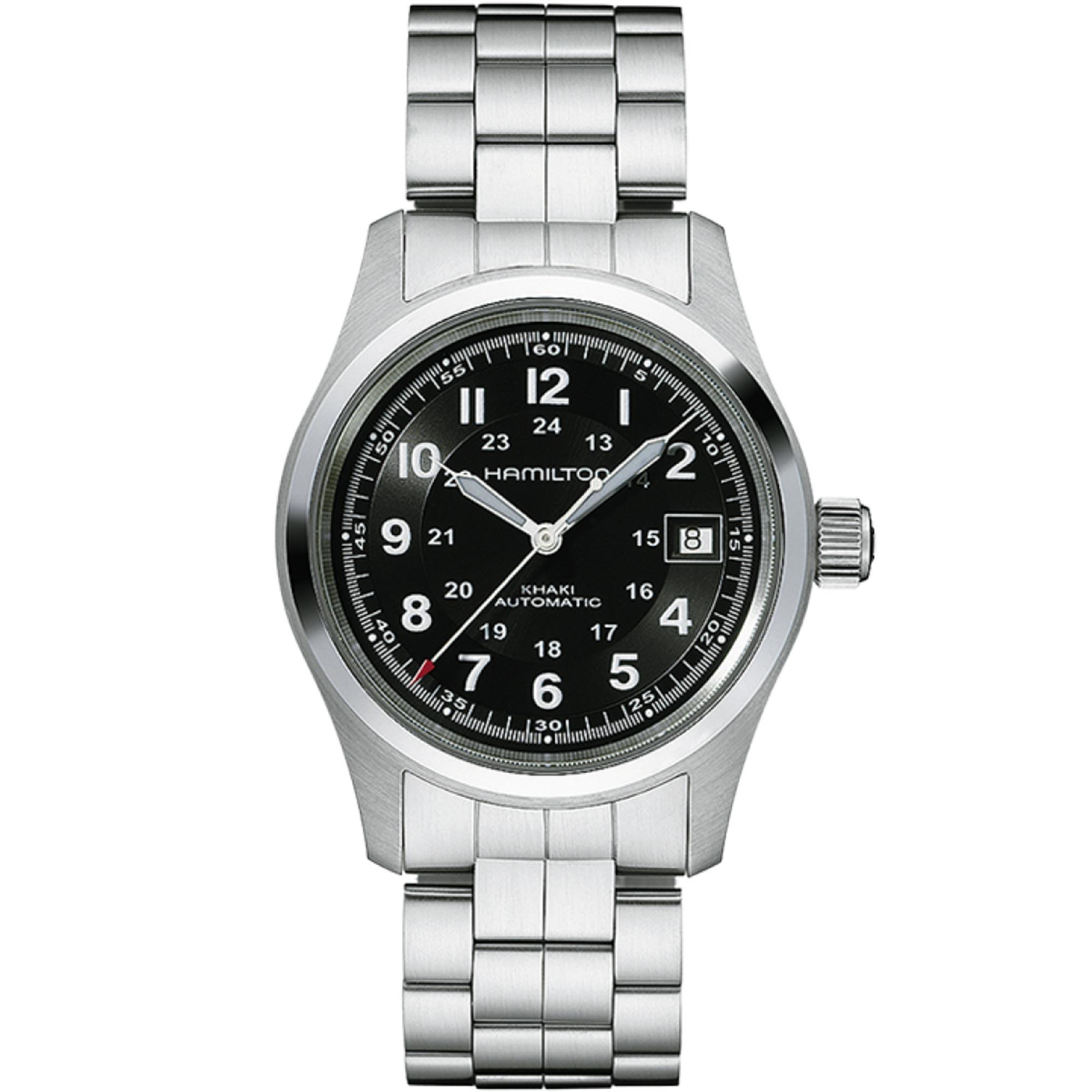 Hamilton Khaki Field Black Dial Stainless Steel Men's Watch