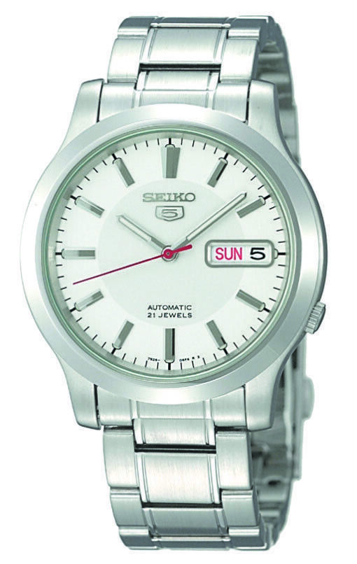 Seiko 5 Automatic Stainless Steel White Dial Men's Watch SNK789K1