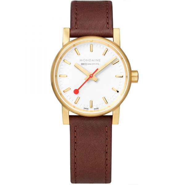 """The Watch: Mondaine evo2 BigBlack Leather Strap Men's Watch MSE.30111.LG 30mmA slightly bolder and more robust iteration of the Mondaine design ethos, this Mondaine evo2 Big Brown Leather Strap Men's Watch (MSE.30111.LG) teams a cleanly styled dial with a sleekblack leather strap.Key Features:Ronda 519 Quartz MovementPolished Stainless Steel CasePressed CasebackRegular Gasket CrownSapphire Crystal GlassBlack Leather StrapWater Resistant to 30mThe Brand: MondaineRenowned for their clean styling and trademark easy-to-read dials, Mondaine watches owe their origins to the """"Official Swiss Railways Clock"""" designed by engineer Hans Hilfiker in 1944. It wasn't until 1986 that the first Mondaine wristwatches appeared, with the iconic design licensed from the Federal Swiss Railways. A stunning combination of innovation and simplicity, Mondaine Official Swiss Railways Watches proudly embody superb 20thcentury design."""