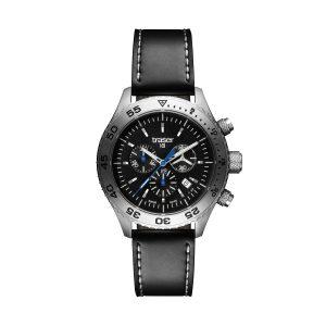 Traser T5 Aurora Black Leather Strap Men's Chronograph 106832