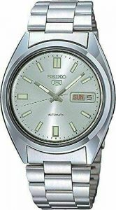 Seiko 5 Automatic Silver Dial Silver Stainless Steel Men's Watch SNXS73K1
