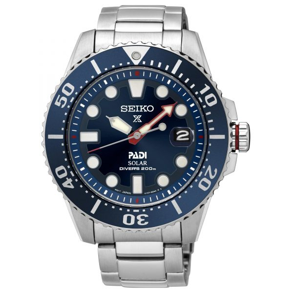 Seiko Prospex Solar PADI Special Edition Stainless Steel Men's Diver's Watch SNE435P1