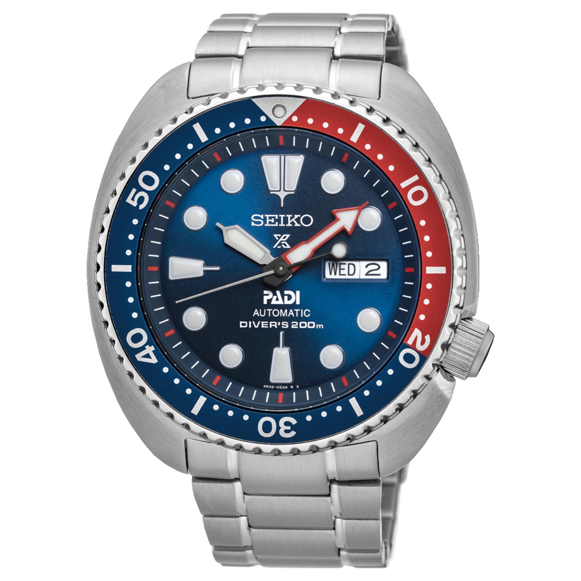 Seiko Prospex Special Edition 'Pepsi Bezel' Turtle PADI Divers Mens Watch SRPA21K1 45mm