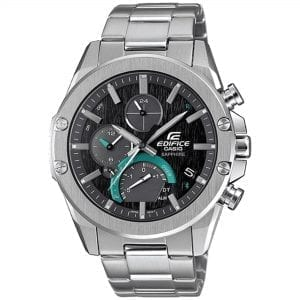 Casio Edifice Slim Line Bluetooth Solar Silver Stainless Steel Men's Watch EQB-1000D-1AER