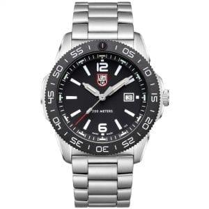 Luminox Pacific Diver Quartz Black Dial Silver Steel Oyster Bracelet Men's Watch XS.3122 RRP £589