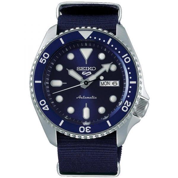 Seiko 5 Sports Blue Dial Canvas Strap Automatic Men's Watch SRPD51K2