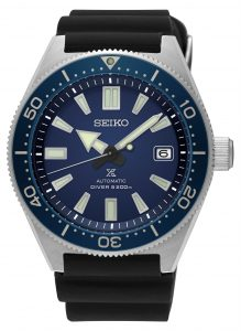 Seiko Prospex Diver's Recreation Blue Dial Rubber Strap Men's Automatic Watch SPB053J1