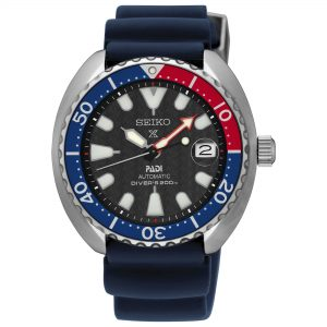 Seiko Prospex Sea PADI Automatic 'Pepsi Bezel' Mini Turtle Divers Mens Watch SRPC41K1 42mm