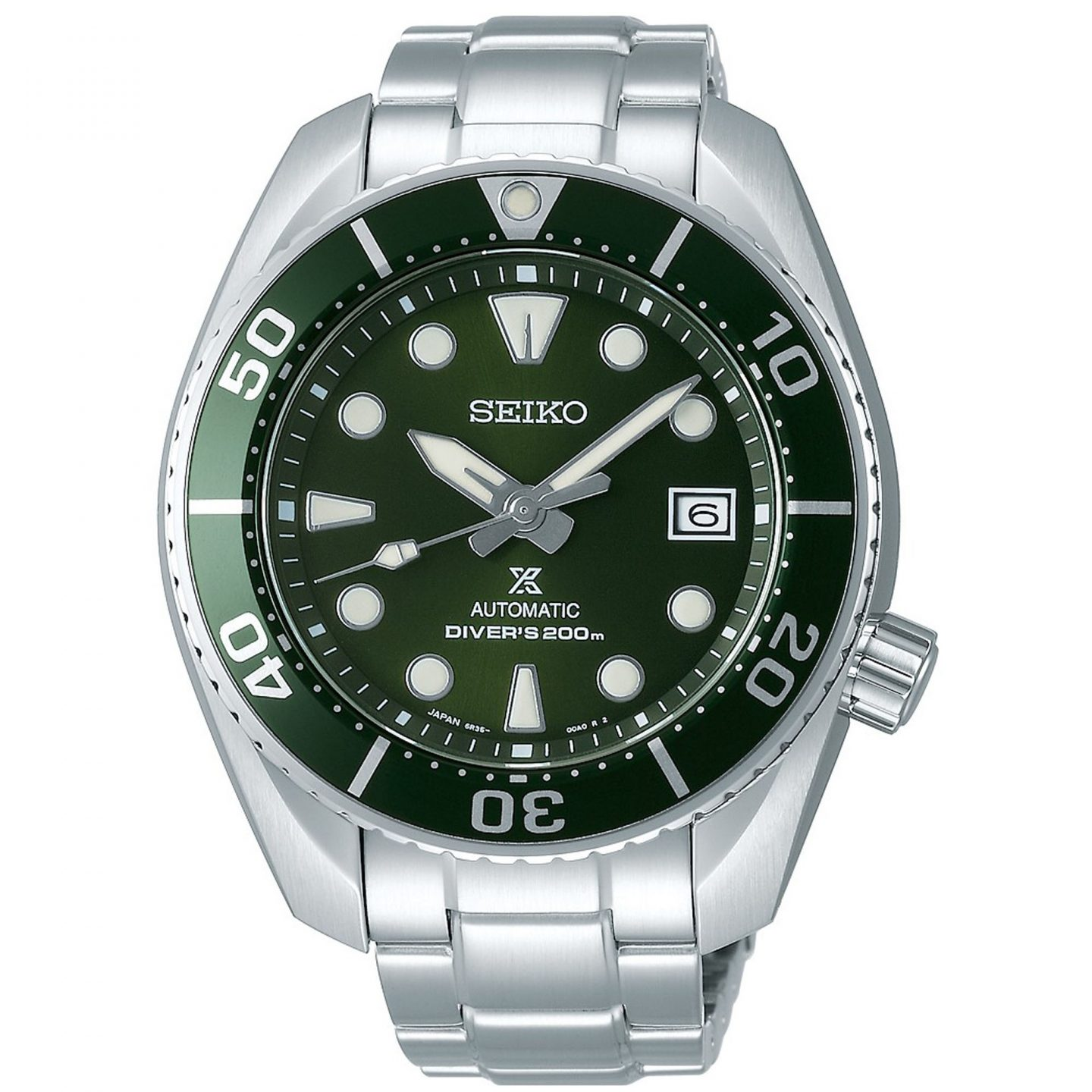 Seiko Prospex Automatic 'Sumo' 'The Hulk' Green Dial Silver Stainless Steel Diver's Men's Watch SPB103J1 RRP £740