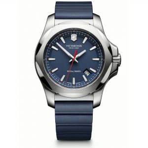 Victorinox Swiss Army I.N.OX. Blue High-Grade Rubber With Protective Bumper Strap Mens Watches 241688.1 43mm