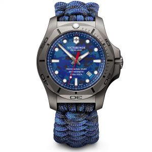 Victorinox I.N.O.X Professional Divers Titanium Case Blue Paracord Strap Mens Watch 241813 45mm